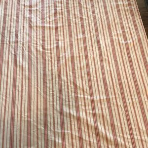 2 sided tablecloth cotton canvas stripe floral 8'